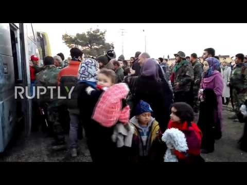 Syria: Over 500 civilians arrive to Jibreen refugee camp from Al-Fouaa and Kefraya