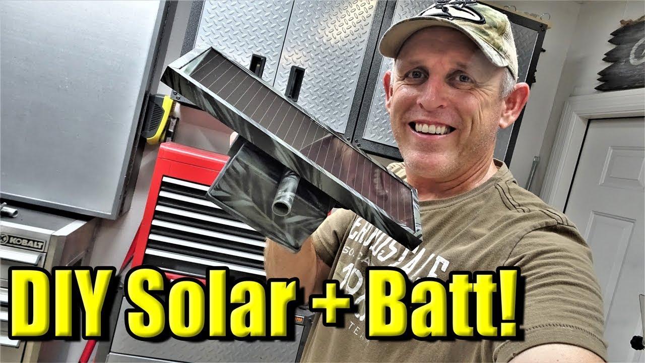 Trail Camera Solar Batt Pack-DIY
