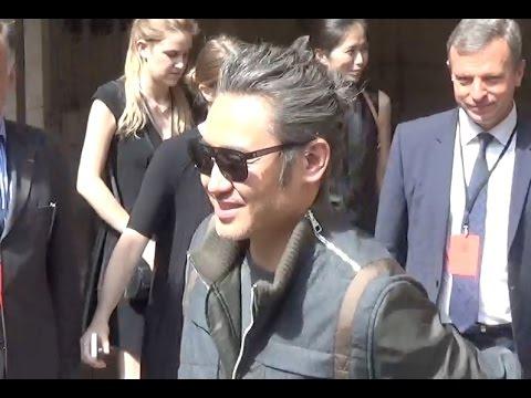 Wu Xiubo 吴秀波 @ Paris Fashion Week 23 june 2016 show Louis Vuitton : juin