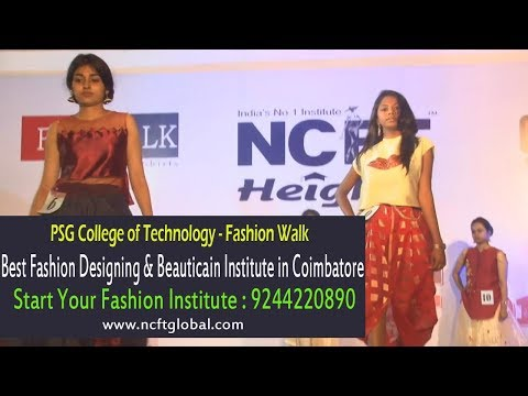 Ncft Heights Best Fashion Designing Beautician Institute In Coimbatore Psg College Youtube