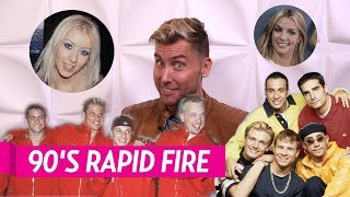 90s rapid fire with lance bass   britney spears started out in what band??