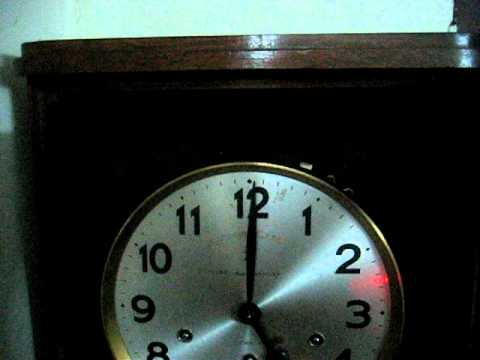 Antique Junghans regulator Clock.AVI