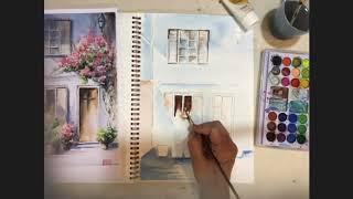 Bungalow (Medium) - Watercolor Painting Tutorial