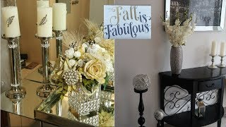 Mini HAUL & FALL ENTRYWAY GLAM  DECOR STYLING | Decorating My Entry Way for Fall!