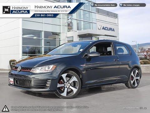2015 Volkswagen Golf GTI Autobhan - Harmony Acura - Grey - A19082A - Kelowna, BC