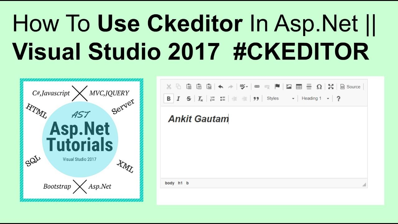 How to use ckeditor in asp net || visual studio 2017 #Ckeditor