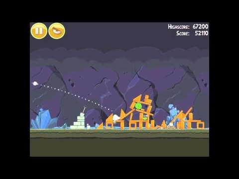 Angry Birds 16-8 Mine & Dine 3 Star Walkthrough