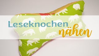 Selfmadeclothes Leseknochen Schlafknochen Nackenrolle gross