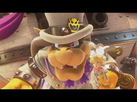 Super Mario Odyssey Walkthrough Part 10 - Bowser's Kingdom (Nintendo Switch)