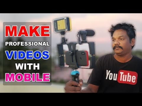 Make Professional Videos With Mobile | 4 in 1 Live Broadcast LED Selfie Light Video | Online Tamil
