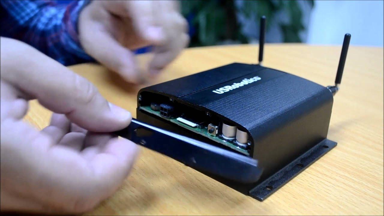 USR3510 SIM Card Installation - YouTube