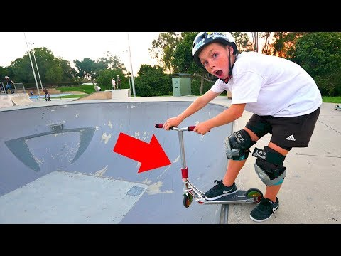NEXT LEVEL MINI SCOOTER TRICKS AT SKATEPARK!
