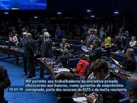 Senado aprova MP que permite uso de parte do FGTS como garantia em empréstimo consignado