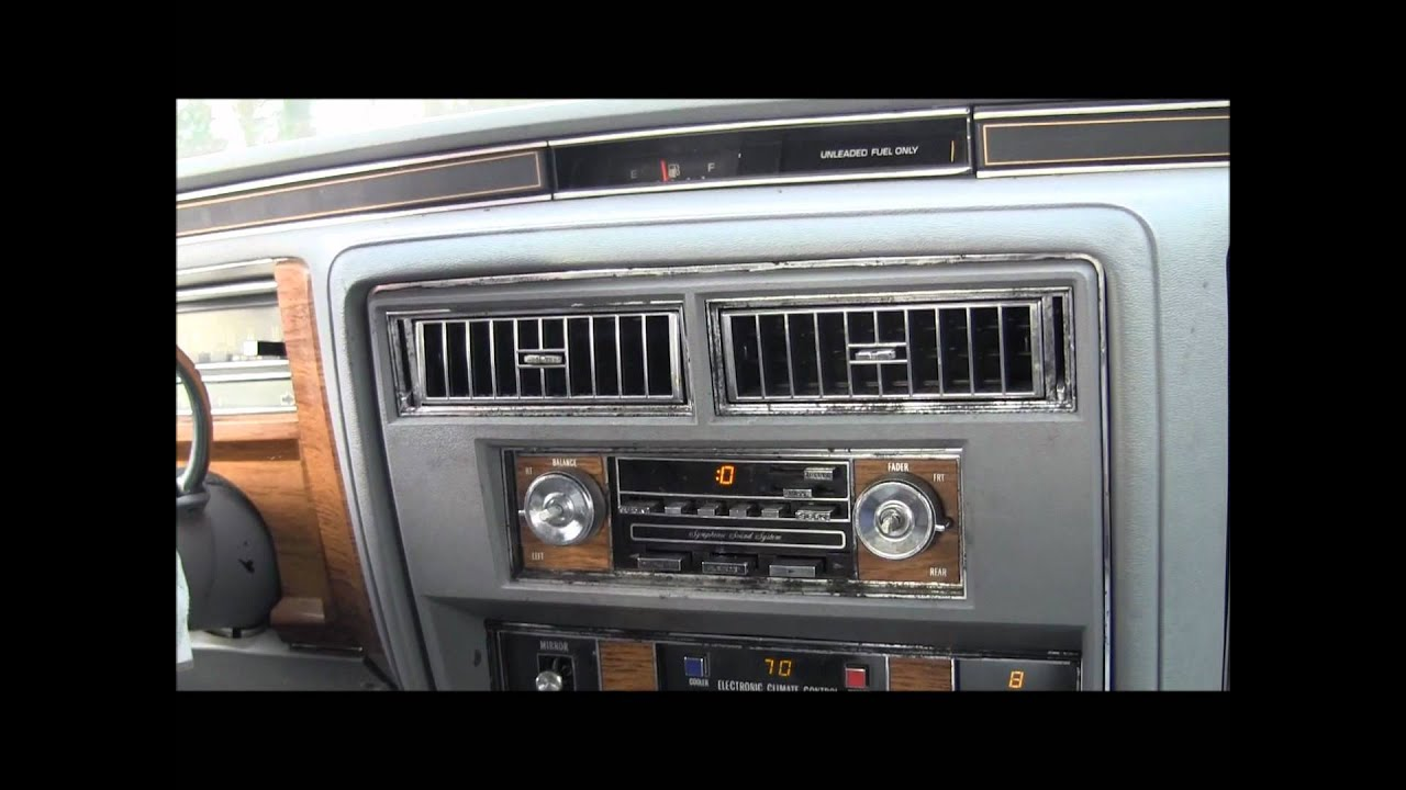 Riding in the 1981 Cadillac Sedan DeVille - YouTube