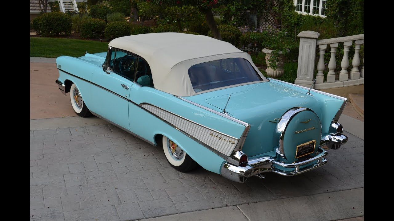 1957 Chevy Bel Air Conv, Fully Restored, Dual Quads, Gorgeous, FOR ...