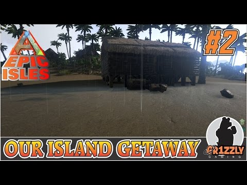 ARK:Survival Evolved EPIC ISLANDS MODDED - Building our mini base - EP2