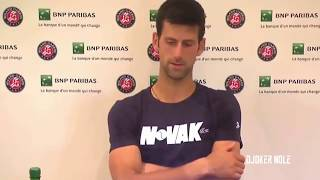 Novak Djokovic ANGRY at Press Conference - RG 2018 (HD)