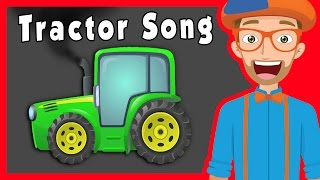 Educational Videos for Preschoolers with Blippi | Tractors and More!