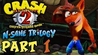 "Crash Bandicoot 2: Cortex Strikes Back (N. Sane Trilogy) - Let's Play - Part 1 - ""Jungle Warp Room"""