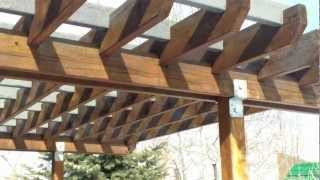 Denver Deck And Landscape Contractor Installing A Pergola
