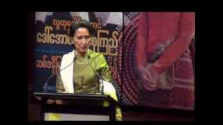Welcome Daw Aung San Suu Kyi OperaHouse Sydney 27112013