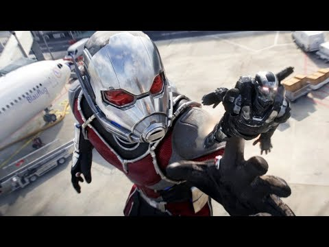 Ant-Man Becomes Giant-Man - Airport Battle Scene - Captain America: Civil War - Movie CLIP HD