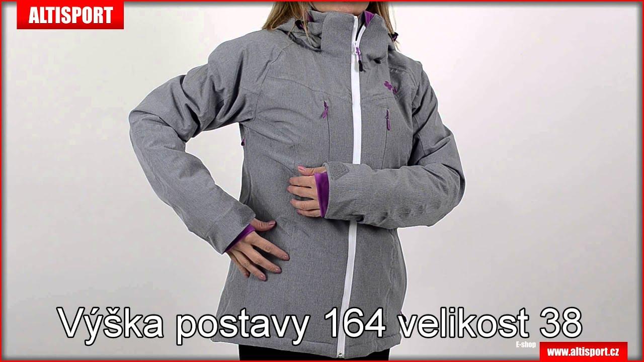 dámská zimní bunda kilpi addison šedá - YouTube 3d24df66c3