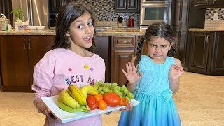 Deema teaches Sally to eat healthy food and exercise