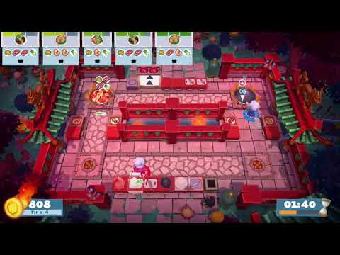 Overcooked 2 - Spring Festival DLC - Level 1-3 - 4 Stars - 2 Player co-op  