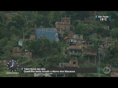 Morro dos Macacos tem tiroteios após quadrilha tentar invasão | SBT Brasil (07/10/17)