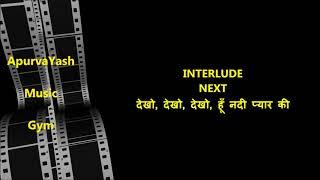 Raat Ka Sama Jhoome Chandrama Karaoke Lyrics Scale Lowered
