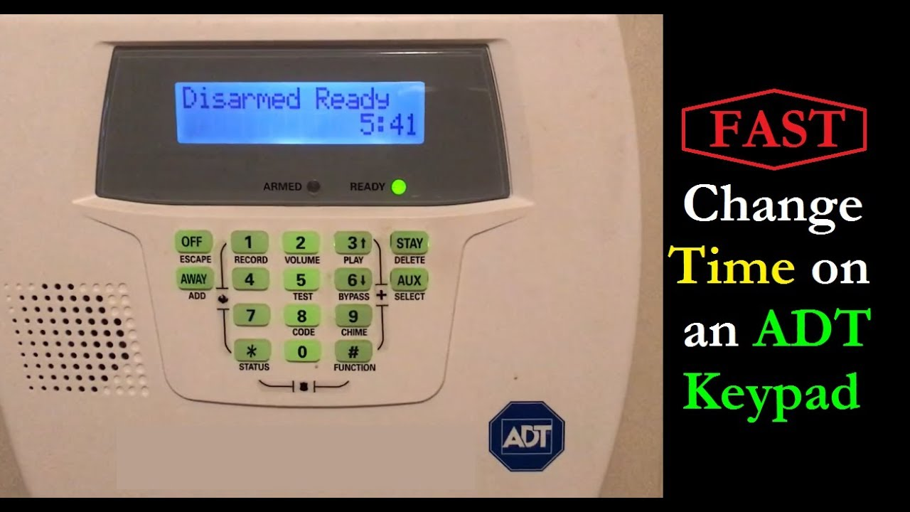 fast how to change the time on an adt keypad youtube rh youtube com