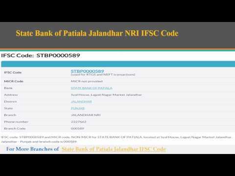 State Bank of Patiala IFSC Code