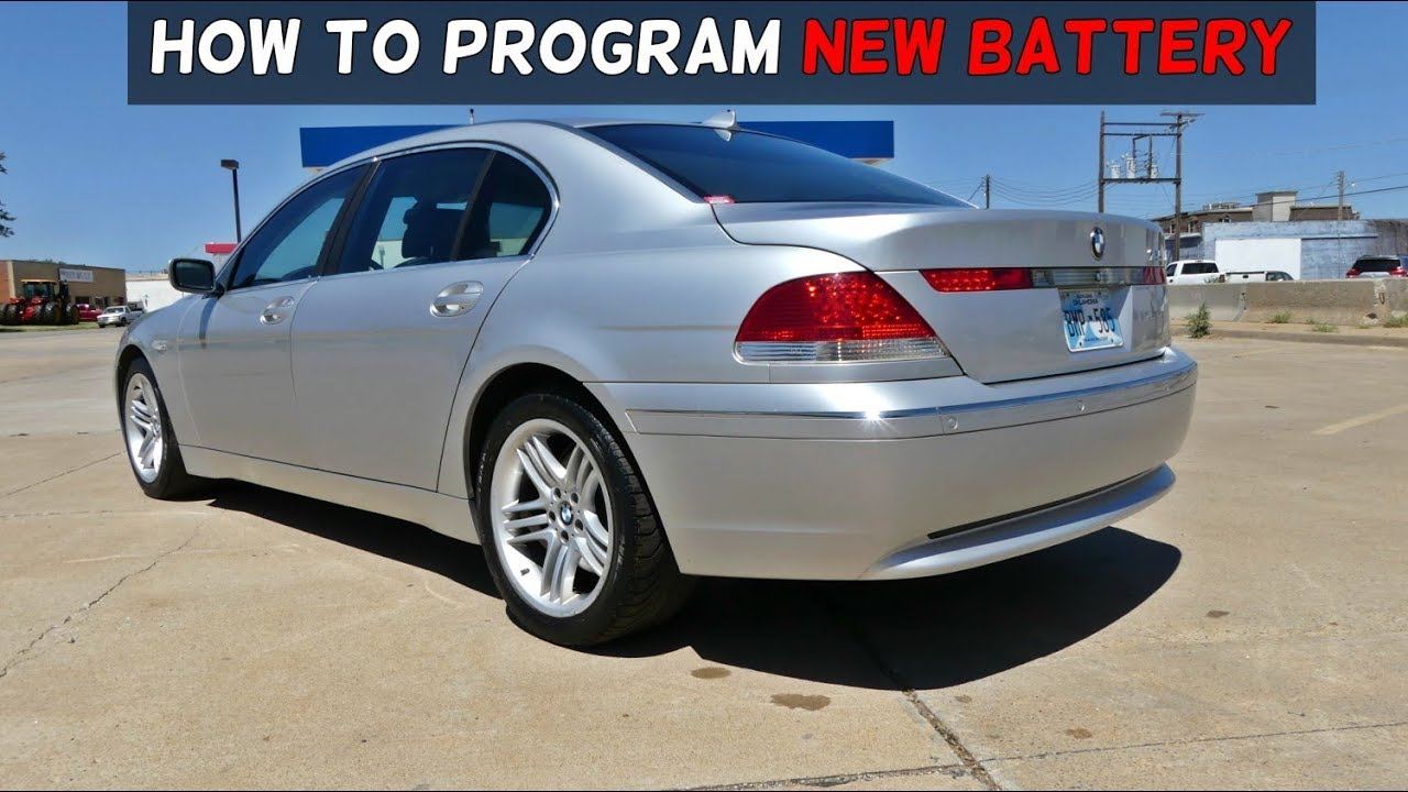 HOW TO PROGRAM NEW BATTERY ON BMW