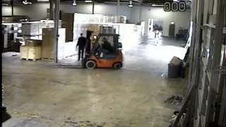 forklift driver funny accident   YouTube