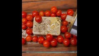 Помидоры черри с сыром брынзой и курицей в духовке рецепт Shorts
