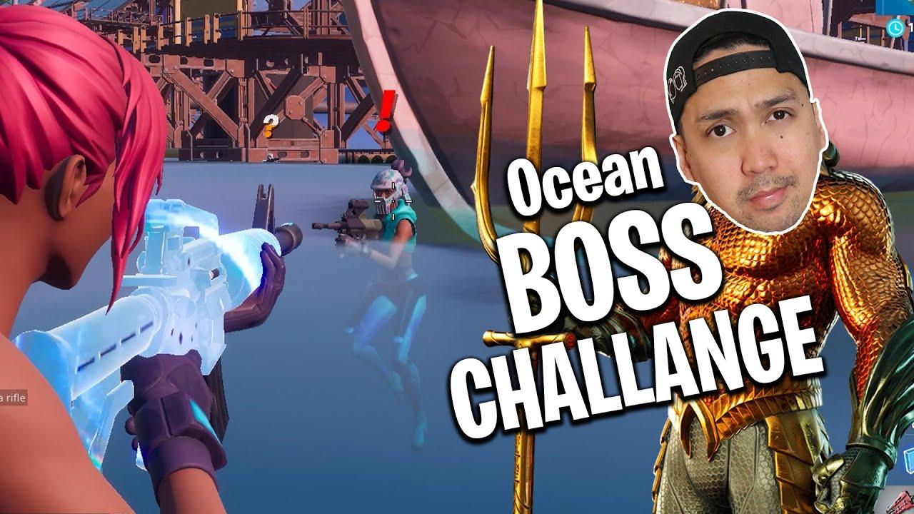 Jeg prøver meg på Ocean boss challenge! Fortnite boss challenge #6
