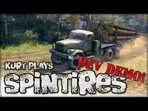 Let's Play SpinTires - July 13, 2013 Dev Demo with Mods!