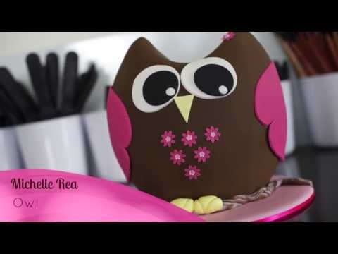 owl cake online cake decorating tutorial Inspired by Michelle - cakemasters.com