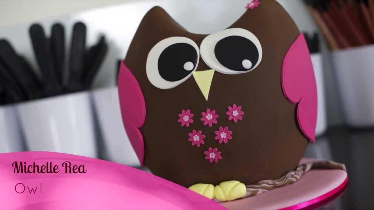 owl cake online cake decorating tutorial Inspired by Michelle