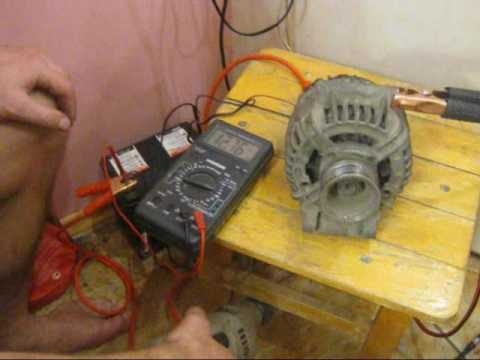 Как проверить снятый генератор мультиметром видео