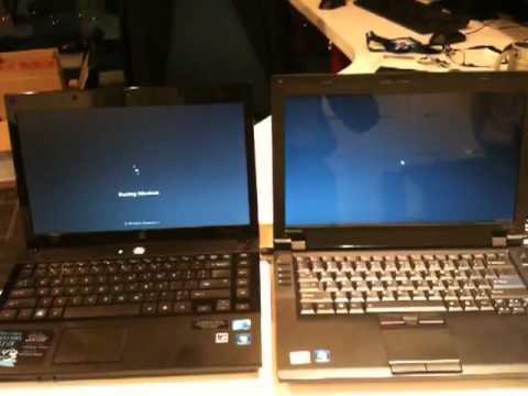 Lenovo SL410Win7 EE VS HP 4431Win7 Boot Time Comparison