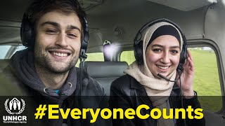 Douglas Booth meets trainee pilot and Syrian refugee, Maya Ghazal | #EveryoneCounts