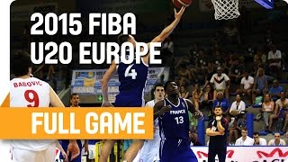 Serbia v France - Group E - Full Game - U20 European Championship Men