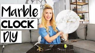 Marble + Gold Clock DIY | Easy Room Decor DIYS