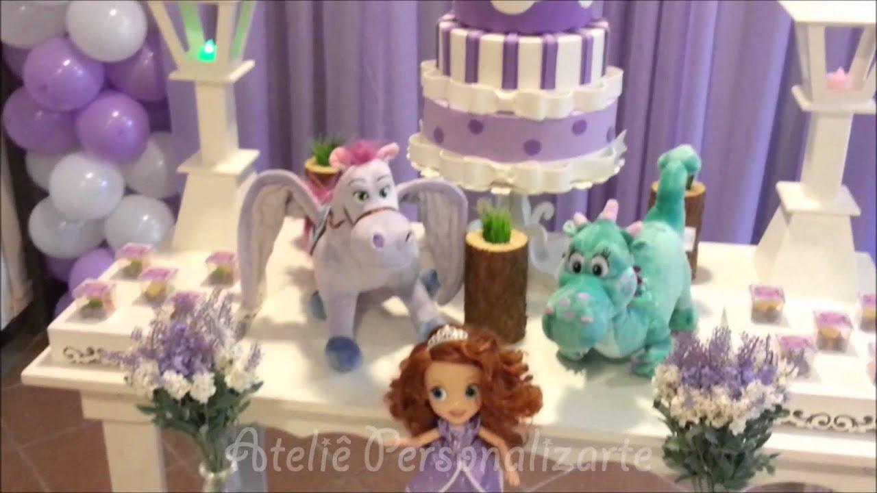 Decoraç u00e3o de festa infantil Princesa Sofia e Toy Story YouTube -> Decoração De Aniversário Princesa Sofia
