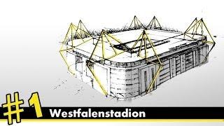 Westfalenstadion perspective drawing #1 | stadiums