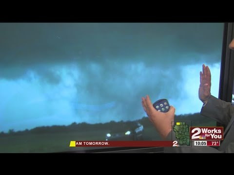 Track Of The Oklahoma City Storms and Tornado