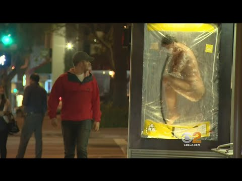 West Hollywood Bus Stop Ad Creeping Some People Out