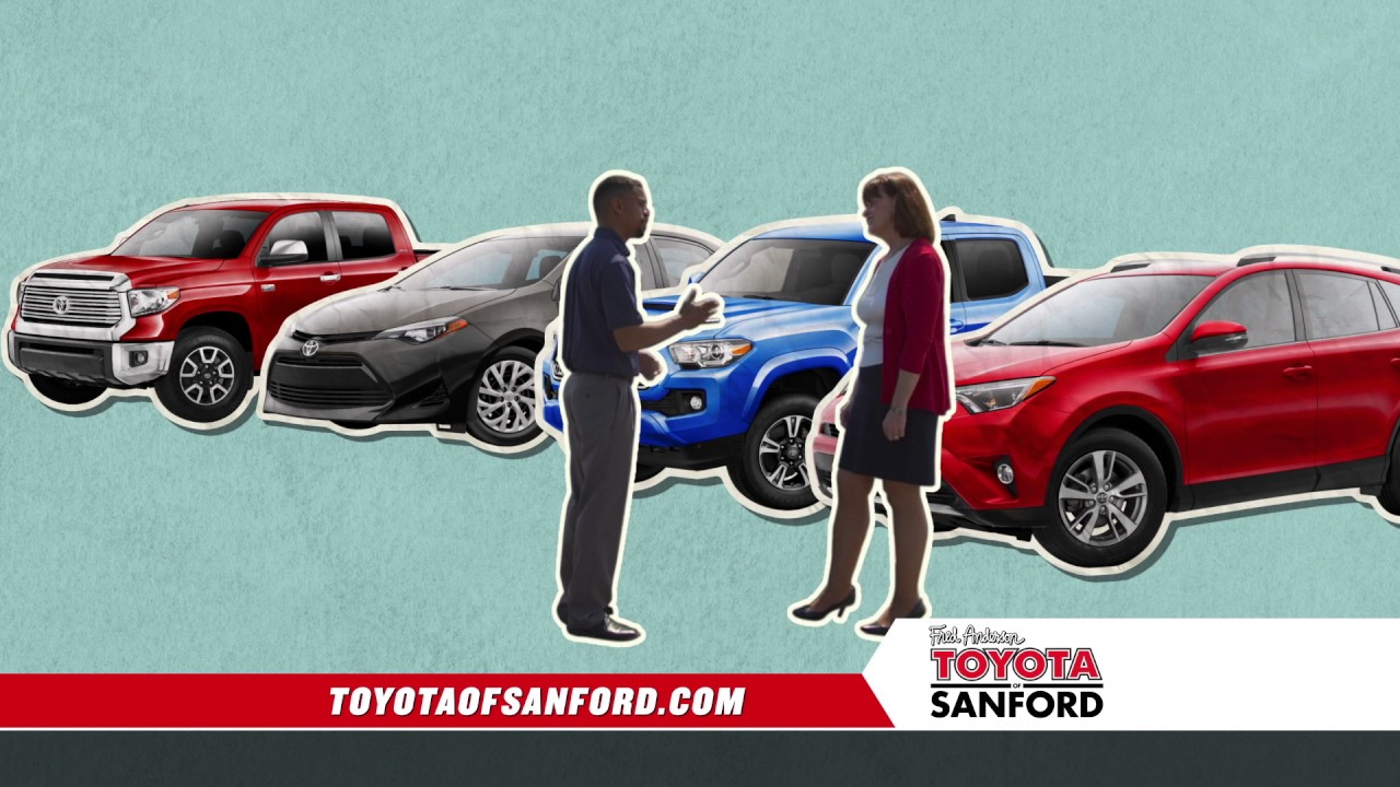 fred anderson toyota of sanford test drive days corolla specials youtube. Black Bedroom Furniture Sets. Home Design Ideas